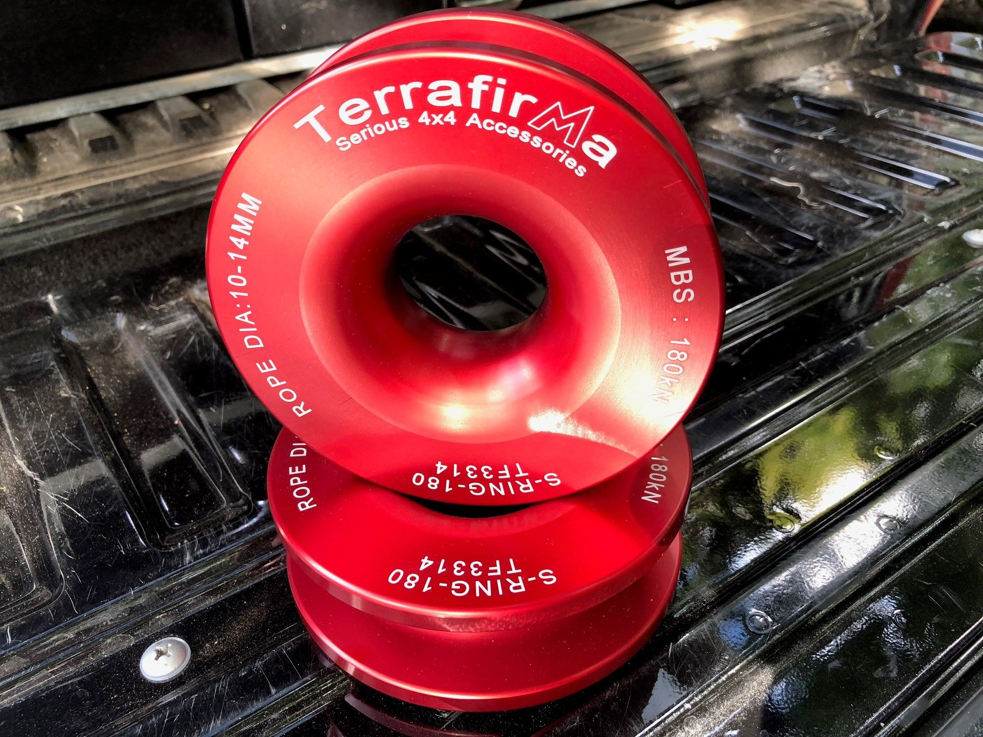 TERRAFIRMA RED WINCH ALLOY SNATCH BLOCK RING TF3314