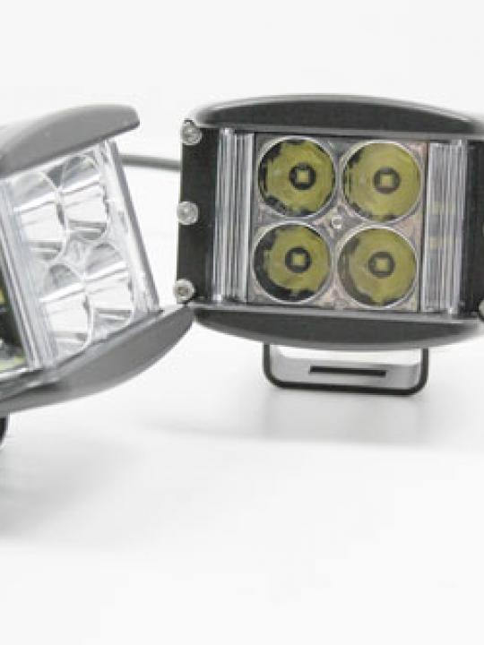 TERRAFIRMA WILDERNESS PAIR OF COMPACT 8 SIDE SHOOTER SPOT BEAM LED LIGHTS